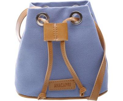 Mini Bucket California Lona Azul   Anacapri
