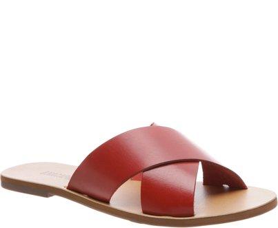 Rasteira Tiras Cruzadas Vermelha | Anacapri