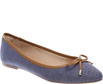 Sapatilha Bico Fino Jeans | Anacapri