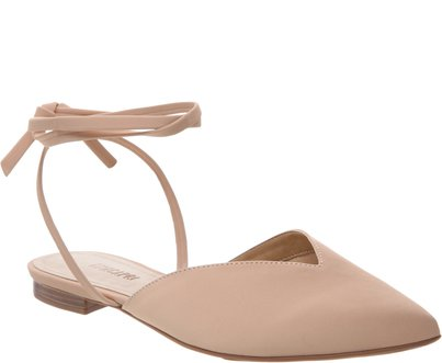 Sapatilha Lace Up Nude | Anacapri